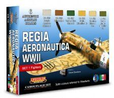 Colori Acrilici Lifecolor CS19 Regia Aeronautica WWII Set  1 Fighters 6 tinte