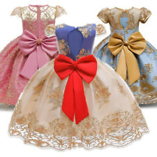 Girl Dress Wedding Gown Princess Bridesmaid Party Prom Birthday Kids Clothes