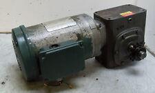 Boston / Baldor 1-1/2 HP Motor w/ Boston 25:1 Ratio Gearbox, 230/460 VAC, Used