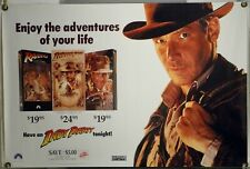 Indiana Jones Rolled Orig Video Movie Poster Raiders Temple Last Crusade (1989)