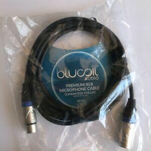 Blucoil Audio 10ft Premium XLR Microphone Cable NEW