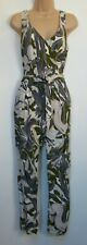 Ex Wallis Tropical Palm Leaf Printed Summer Holiday Jumpsuit size 8 - 18