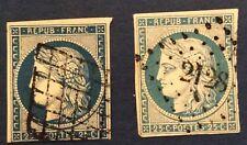 France N° 4 4 à 25 c. Bleu Et Bleu Fonce Oblitéré TB Cote 140€