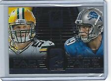 2014 Panini Elite Clay Matthews Matthew Stafford Face To Face #16 (Packers)