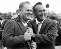 Jack Nicklaus Arnold Palmer UNSIGNED 8X10 photo B
