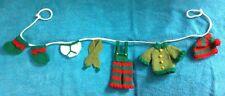 KNITTING PATTERN - Cute Christmas Elf washing line garland novelty decoration