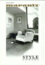 Marantz HiFi Katalog Prospekt 99/00 Slim Serie Perla Inizio Duetto Terzo Evviva