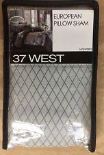 "37 West ""Monterey"" Euro Pillow Sham Size: 26 x 26� New Ship Free Silver / Brown"