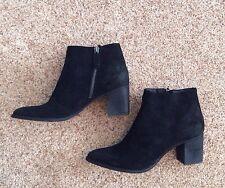 New Dolce Vita Women's Lennon Black Suede Ankle Bootie 6.5