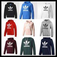 Adidas Men Originals Trefoil Fleece Hoodie Hooded Sweatshirt