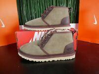 UGG Australia Neumel Mens Ankle Boots Taupe Suede Sheepskin 1095349 Size 7-11