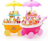 Electrical Sweet Trolley Shop Ice Cream Candy Children Roll Play Kids Toys GiftS