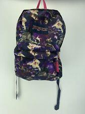 Jansport SPACE ASTRO KITTY KITTEN CAT Bulldog Dog SuperBreak School Bag Backpack