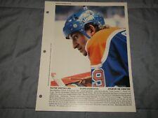 WAYNE GRETZKY DIMANCHE DERNIERE HEURE Photo Picture Edmonton Oilers 1982