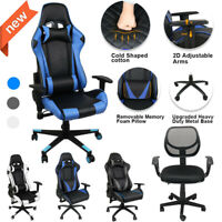 Computer Gaming Chair Recliner Swivel Leather Adjustable Racing Seat Home Office