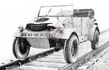 Lead Warrior 1/35 VW Kubelwagen 157 Railroad Wheels Set (all Type 82) LW35202