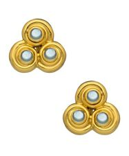 Julie Vos Tourmaline Trio Clip-On Earrings NWT $155  Moonstone