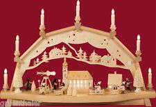 Schwibbogen mit Bewegung Weihnachtmarkt + bewegte Pyramide Erzgebirge Weißbach