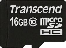 TRANSCEND 16GB MICRO SDHC carte flash sans adaptateur (Classe 10)