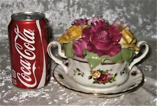 """MUSICAL CUP of SOUP BOUQUET by ROYAL ALBERT """"OLD COUNTRY ROSES"""" Limited Edition"""