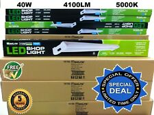 4x 4Ft 40W 5000k LED GARAGE WORK SHOP LIGHT FIXTURE HANGING UTILITY 4pc LOT