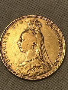 FULL GOLD SOVEREIGN QUEEN VICTORIA 1891
