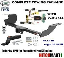 """FITS 2005-2010 CHYSLER 300C CLASS 3 CURT TRAILER HITCH PACKAGE w 1 7/8"""" BALL"""