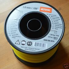 Genuine Stihl Strimmer Line Wire 3mm x 174M Yellow Square 0000 930 2619 Tracked