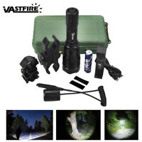 Tactical 400 Yards Flashlight Hunting Torch Light Rifle Scope Gun Mount Lamp Hot