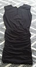 COUNTRY ROAD Black Gathered Cotton Maxi Dress Size XS