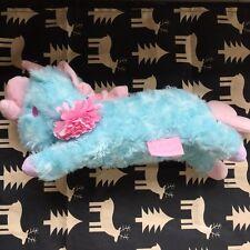 New Little Twin Stars Unicorn Blue Plush Make Up Pencil Case Kid's Bag Gift Toy