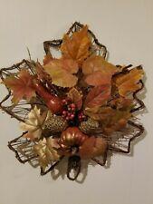 Handmade Hanging Door Wall Wreath Maple Leaf Fall Thanksgiving Pumpkin Pine Cone