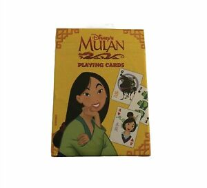 New Rare Disney Mulan Playing Cards Standard Card Deck No 485 SealedMade in USA