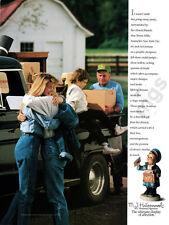 M.J. Hummel Figurines print ad 1989 Going Away Gift - Little Postman