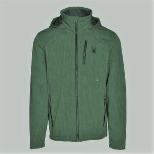 Men's Boy's Spyder Patsch Novelty Softshell Ski Jacket Green Size XS