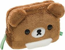 NEW Soft Cute Pouch San-X Brown Bear Rilakkuma Cosmetic Storage Plush Gift Ca