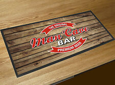 Man Cave Red Beer Label Wood effect bar runner Pubs Clubs & Cocktail Bars