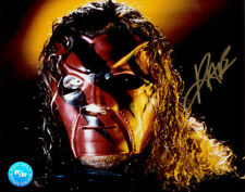 Autographed Kane Photo, RR Mask WWE WWF Promo Signed Racing Reflections