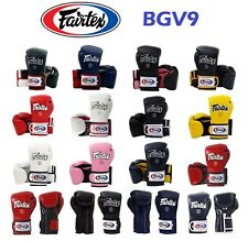 NWT Fairtex Muay Thai Boxing Gloves BGV9 Mexican Style Heavy Hitter + Retail Box