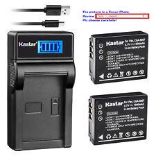 Kastar Battery LCD USB Charger for Panasonic CGA-S007 & Panasonic LUMIX DMC-TZ3S