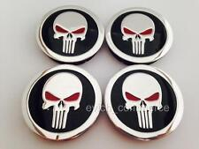 PUNISHER Wheel Center Hub Caps 60mm/55mm UNIVERSAL for Alloy Wheels Set of 4