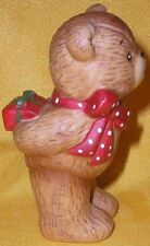 Porcelain Lucy Rigg Rigglets Teddy Bear Holding Gift Behind Back Figurine 1979