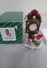 Fitz & Floyd Holiday Hamlet Enchanted Forest Village Square Clock 19/721 & box