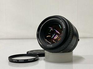 *EXC* Nikon AF Nikkor 50mm f/1.4 Standard Lens for Nikon F Mount w/ Cap & Filter