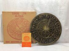Vintage As 00004000 trological Zodiac Mount Olympus #1920 Outdoor 14� Sundial Metal Brass