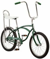 "20"" Schwinn Sting-Ray Bicycle, Stripe Banana Seat Bike, Single Speed, Green"