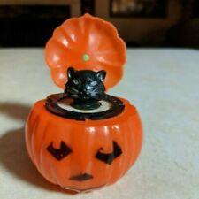 Vintage Cat Popup Jol Jack O Lantern Hard Plastic Halloween Toy Squeaks