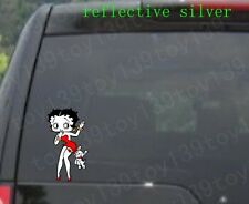 Betty Boop Vinyl car window phone decals decal Vinyl Sticker / Reflective silver