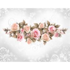 FOTOTAPETE WAND BILD 2424P Weiße Rosen Vintage-Effekt