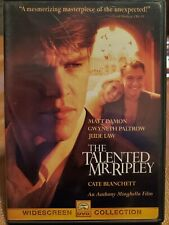 The Talented Mr. Ripley Dvd Widescreen Matt Damon, Gwyneth Paltrow, Jude Law